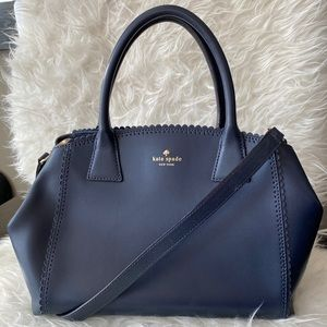 Kate Spade Navy Scalloped Edge Purse